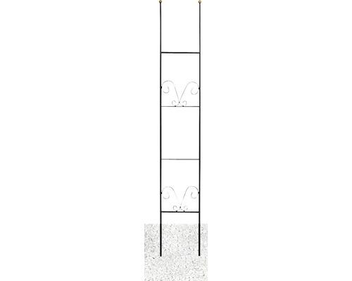 Spalier decorativ Lydia, otel, h 150 cm negru-auriu