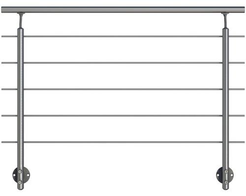 Set complet balustrada Pertura din aluminiu cu fixare laterala