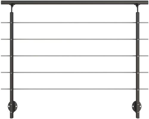 Set complet balustrada Pertura din aluminiu cu fixare laterala, antracit