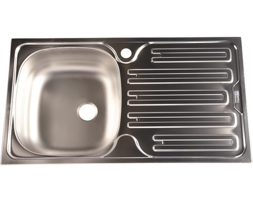 Chiuveta bucatarie cu o cuva Franke CIN 611, picurator pe dreapta, 78x43,5 cm, inox