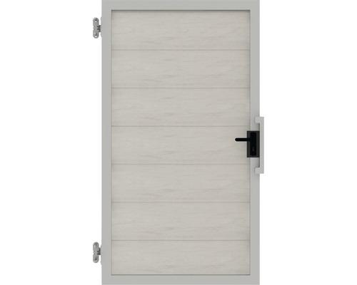 Poarta simpla Novara WPC stanga, 100 x 180 cm, bej alb