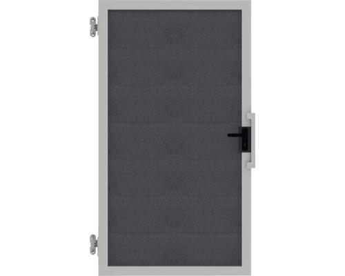 Poarta simpla Novara WPC stanga, 100 x 180 cm, antracit