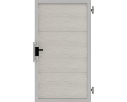 Poarta simpla Novara WPC dreapta, 100 x 180 cm, bej alb