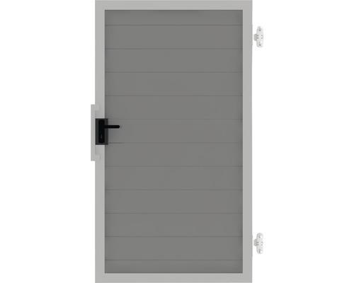 Poarta simpla Lumino stanga, 100 x 180 cm, gri argintiu