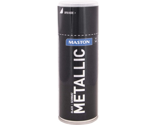 Lac acrilic spray Maston negru metalic 400 ml