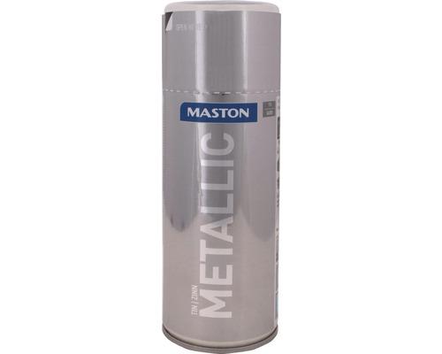 Lac acrilic spray Maston staniu metalic 400 ml