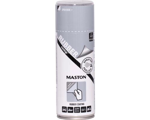 Vopsea spray cauciucata RUBBERcomp Maston argintiu metalic 400 ml