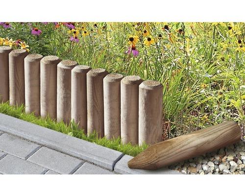Mini palisada ascutita, sanfrenata, 5x30 cm, maro