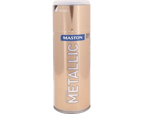 Lac acrilic spray Maston auriu metalic 400 ml