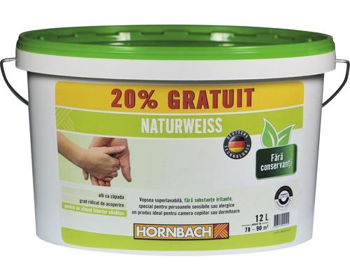 Vopsea lavabilă Naturweiss 12 l (20 % gratis!)