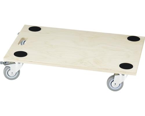 Platformă cu roți pentru transport Tarrox max. 300kg 590x390x18 mm, roți pivotante din cauciuc, cu frână și blocarea direcției