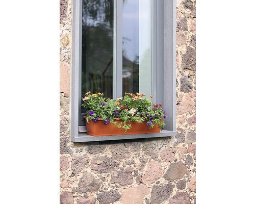 Jardiniera Geli standard, plastic, 60x17x14 cm, caramiziu