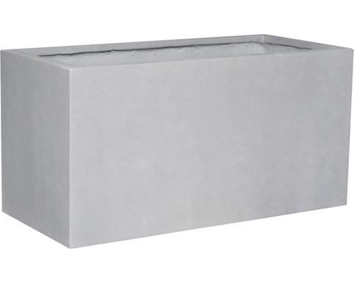 Ghiveci Lafiora Emil, piatra artificiala, 74,5x25x35 cm, gri deschis