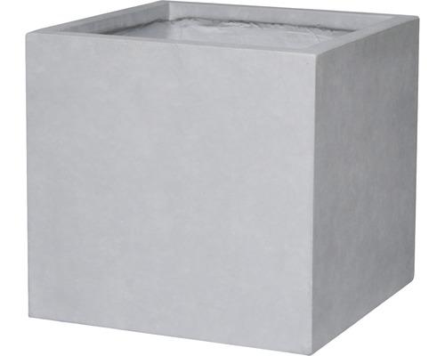 Ghiveci Lafiora Emil, piatra artificiala, 55x55x52 cm, gri deschis