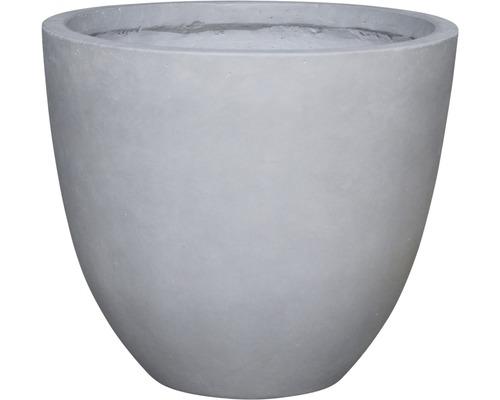 Ghiveci Lafiora Emil, piatra artificiala, Ø 42 i 36 cm, gri deschis