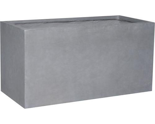 Ghiveci mare Lafiora Emil, piatra artificiala, 74,5x25x35 cm, gri inchis