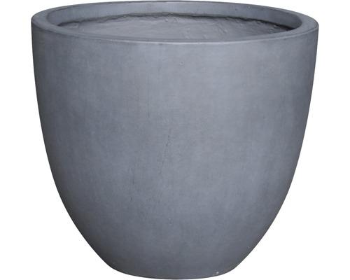 Ghiveci Lafiora Emil, piatra artificiala, Ø 42 i 36 cm, gri inchis