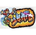 Fototapet vlies Graffiti Skate 416x254 cm